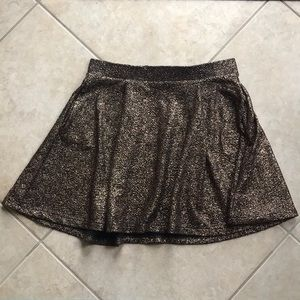 Rose Gold and Black Skater Skirt